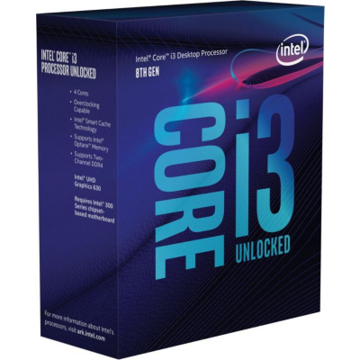 Intel  Core i3-8100 4×3,6GHz 6MB-L3 Cache Sockel 1151 (Coffee Lake) | 5032037107501