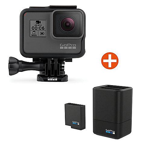 GoPro HERO6 Black Action Cam mit Akku-Ladegerät...