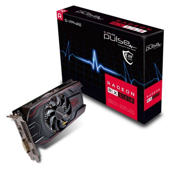 Sapphire AMD Radeon RX 560 Pulse OC 14CU 4GB Grafikkarte HDMI/DP/DVI-D