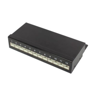 Good Connections  Patch Panel Desktop CAT6 geschirmt STP 12-Port tiefschwarz | 4014619767366