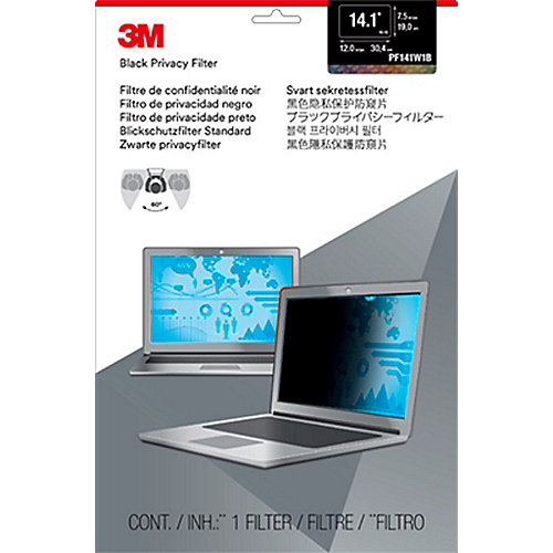 3M PF141W1B Blickschutzfilter Black für 14,1 Zoll (35,81cm) 98044054090 | 0051128774359