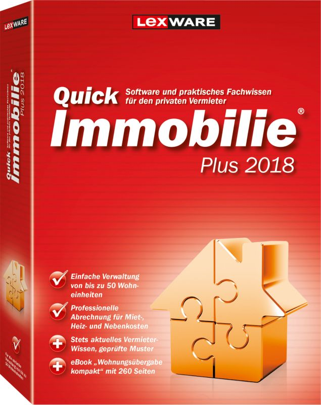 Lexware Quickimmobilie Plus 2018, Minibox