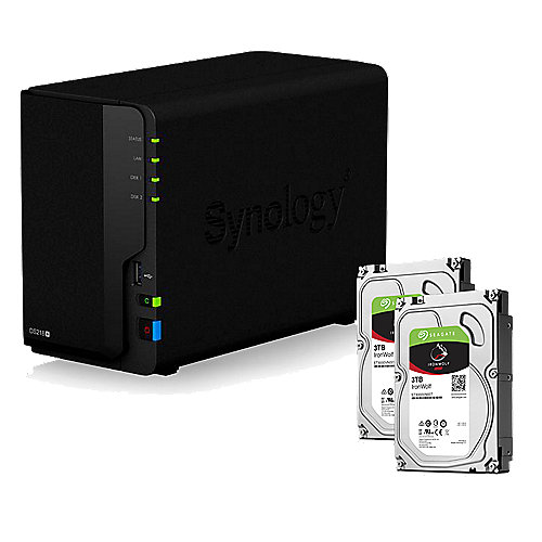 Synology DS218+ NAS System 2-Bay 6TB inkl. 2x 3TB Seagate ST3000VN007