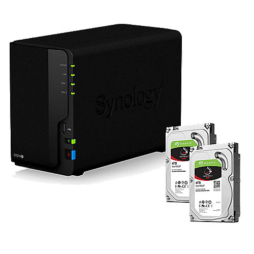 Synology DS218+ NAS System 2-Bay 8TB inkl. 2x 4TB Seagate ST4000VN008