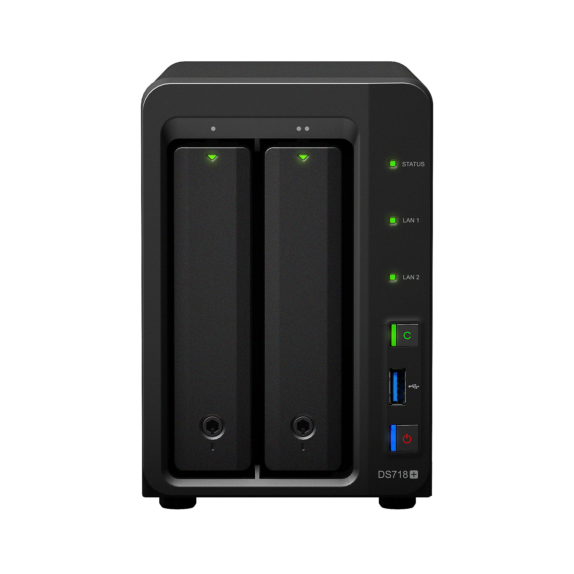 Synology Diskstation DS718+ NAS 2-Bay 2TB inkl. 2x 1TB WD RED WD10EFRX