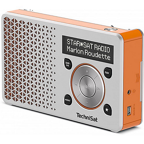 TechniSat DIGITRADIO 1, silber/orange UKW/DAB+ ...