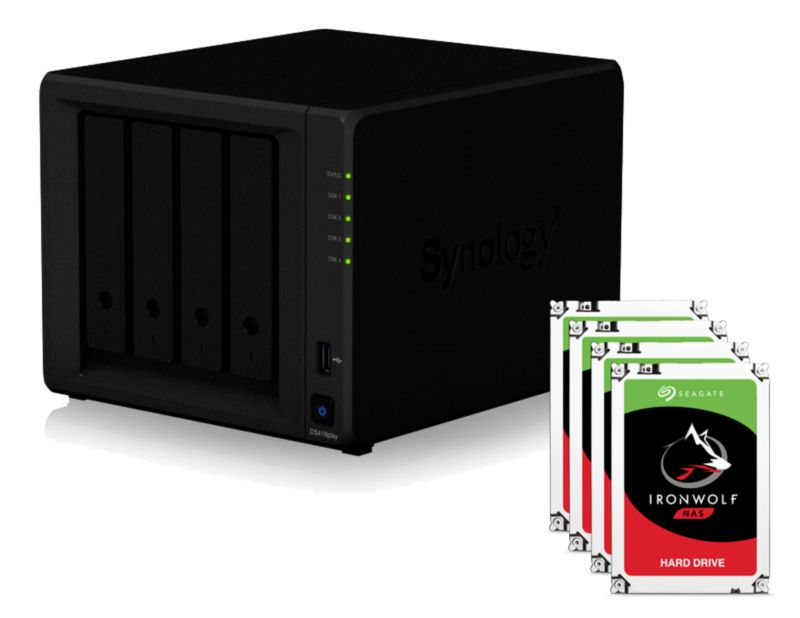 Synology DS418play NAS System 4-Bay 8TB inkl. 4x 2TB Seagate ST2000VN004