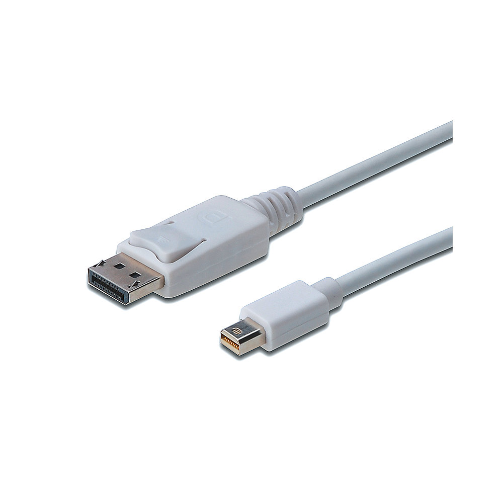 DIGITUS Mini Displayport/ Displayport 1.1a Kabel 2m Weiß