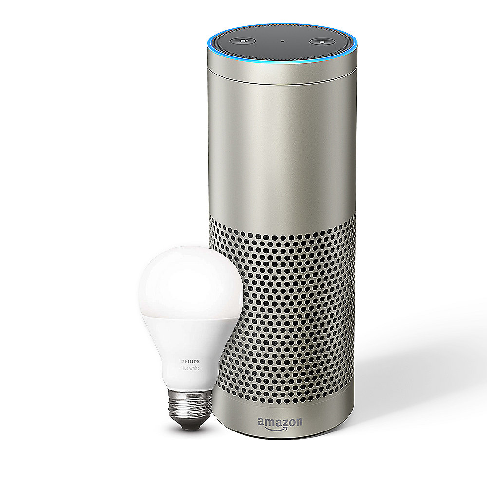 Echo Plus -Mit integriertem Smart Home-Hub(Silber) - inklusive Philips Hue LED