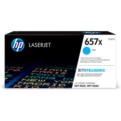 HP  657X Original Tonerpatrone Cyan ca. 23.000 Seiten CF471X   0889894325501