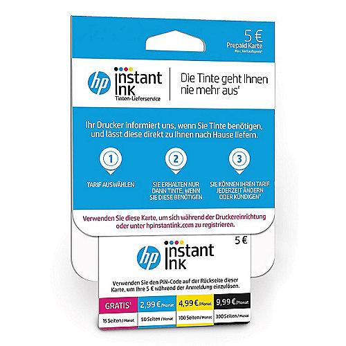 HP Instant Ink Prepaid Karte mit 5 EUR Guthaben