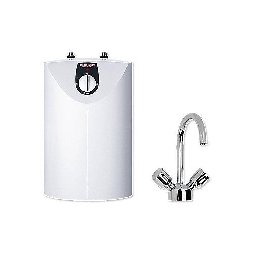 SNU 5 SL + WST-W Kleinspeicher mit Armatur 2 kW weiß