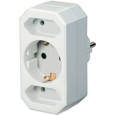 Brennenstuhl  Adapterstecker Euro 2 + Schutzkontakt 1 weiß | 4007123115822