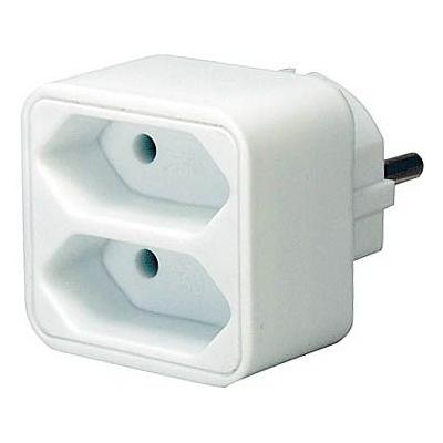 Brennenstuhl  Adapterstecker auf 2 Euro-Steckdosen weiß | 4007123115785