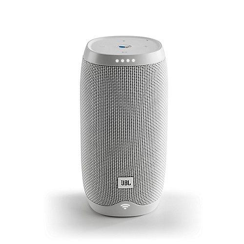 JBL Link 10 weiß Google Sprachsteuerung, Lautsprecher mit WLAN, Bluetooth, Akku | 6925281931376