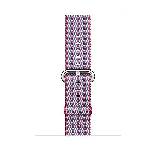 Apple Watch 42mm Armband aus gewebtem Nylon Beere(kariert) MQVN2ZM A