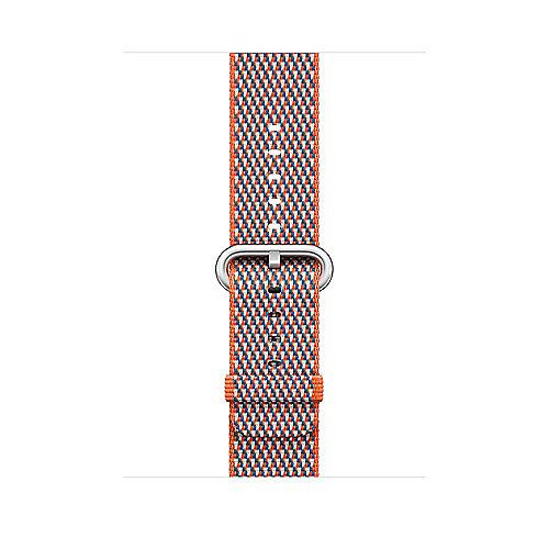 Apple Watch 42mm Armband aus gewebtem Nylon Orangerot(kariert) MQVP2ZM A