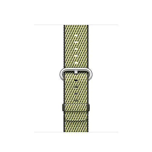Apple Watch 38mm Armband aus gewebtem Nylon Dunkeloliv(kariert) MQVF2ZM A