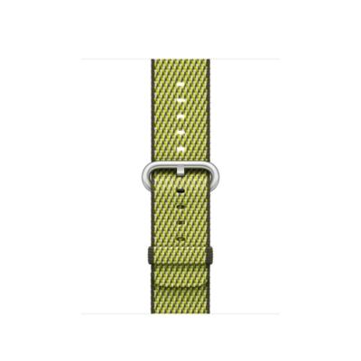 Apple Watch 38mm Armband aus gewebtem Nylon Dunkeloliv(kariert) MQVF2ZM A auf Rechnung bestellen