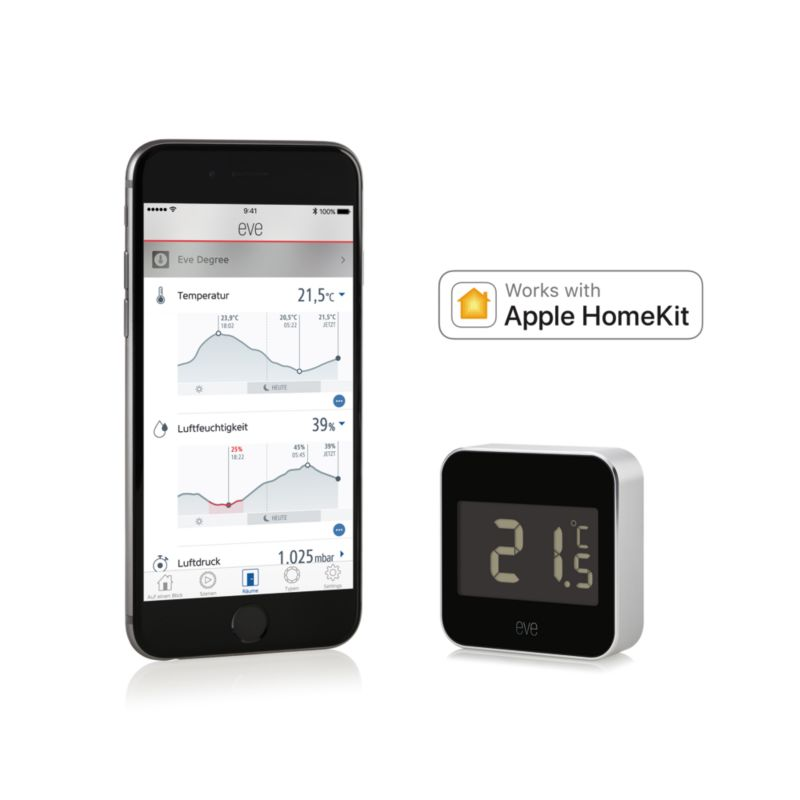 Elgato Eve Degree kabelloser Raumklimasensor für Apple HomeKit