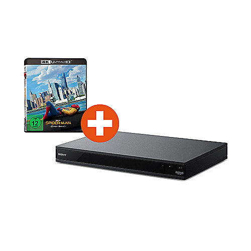 SONY UBP-X800 4K UHD Blu-ray-Player Hi-Res Audio mit 4K UHD Film Spiderman
