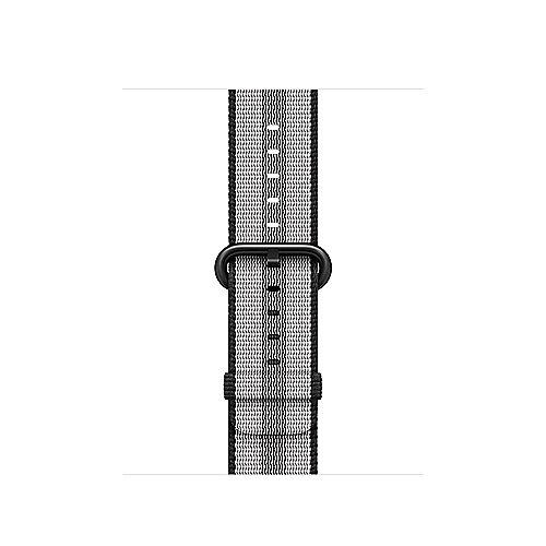 Apple Watch 38mm Armband aus gewebtem Nylon Schwarz(gestreift) MQVG2ZM A
