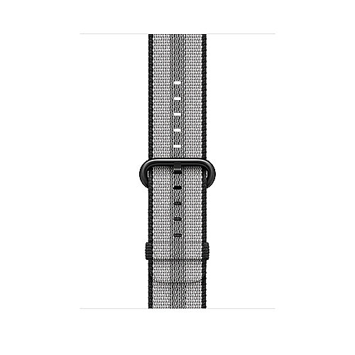Apple Watch 42mm Armband aus gewebtem Nylon Schwarz(gestreift) MQVR2ZM A