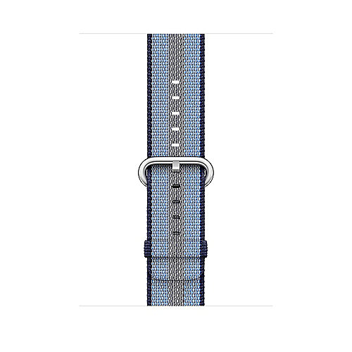 Apple Watch 42mm Armband aus gewebtem Nylon Mitternachtsblau(gestreift) MQVU2Z