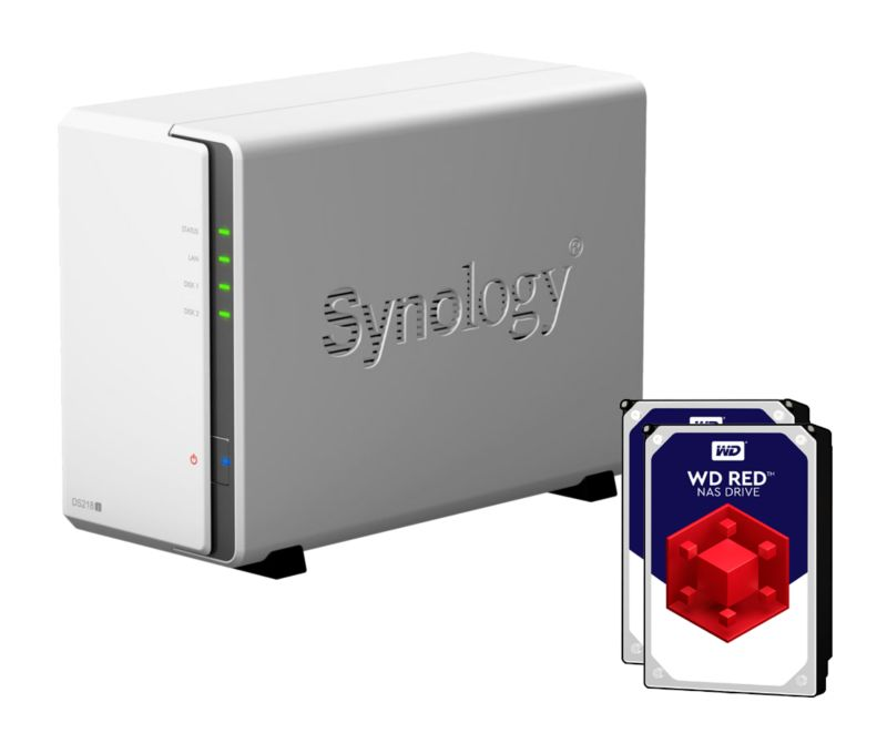 Synology Diskstation DS218j NAS 2-Bay 6TB inkl. 2x 3TB WD RED WD30EFRX