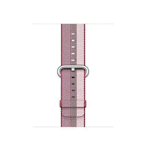 Apple Watch 38mm Armband aus gewebtem Nylon Beere(gestreift) MPVW2ZM A