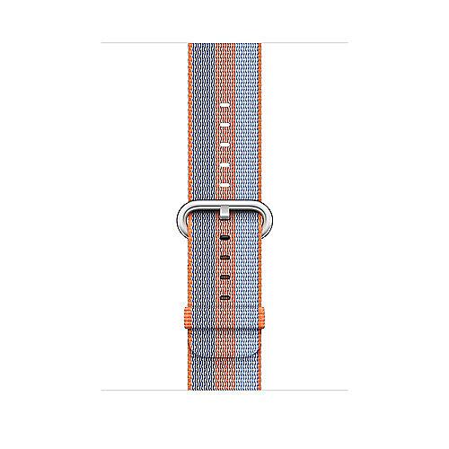 Apple Watch 42mm Armband aus gewebtem Nylon Orange(gestreift) MPW22ZM A