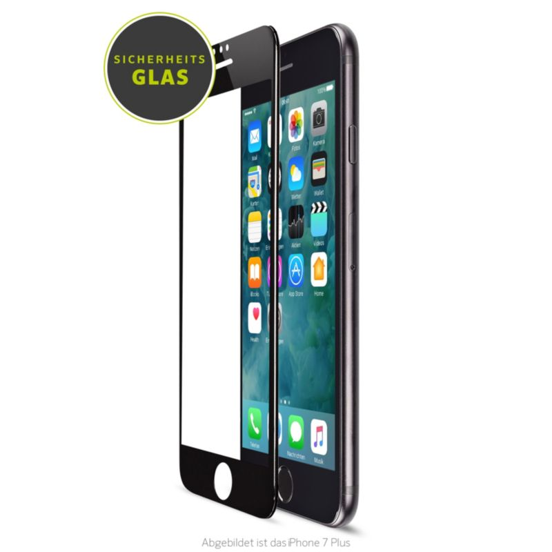 Artwizz CurvedDisplay Glass für iPhone 8 Plus/7 Plus/6 Plus, weiß