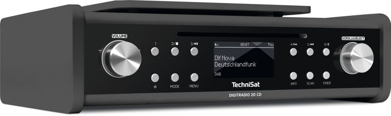 TechniSat DIGITRADIO 20 CD, anthrazit,  UKW/DAB+ Unterbau-Radio mit CD