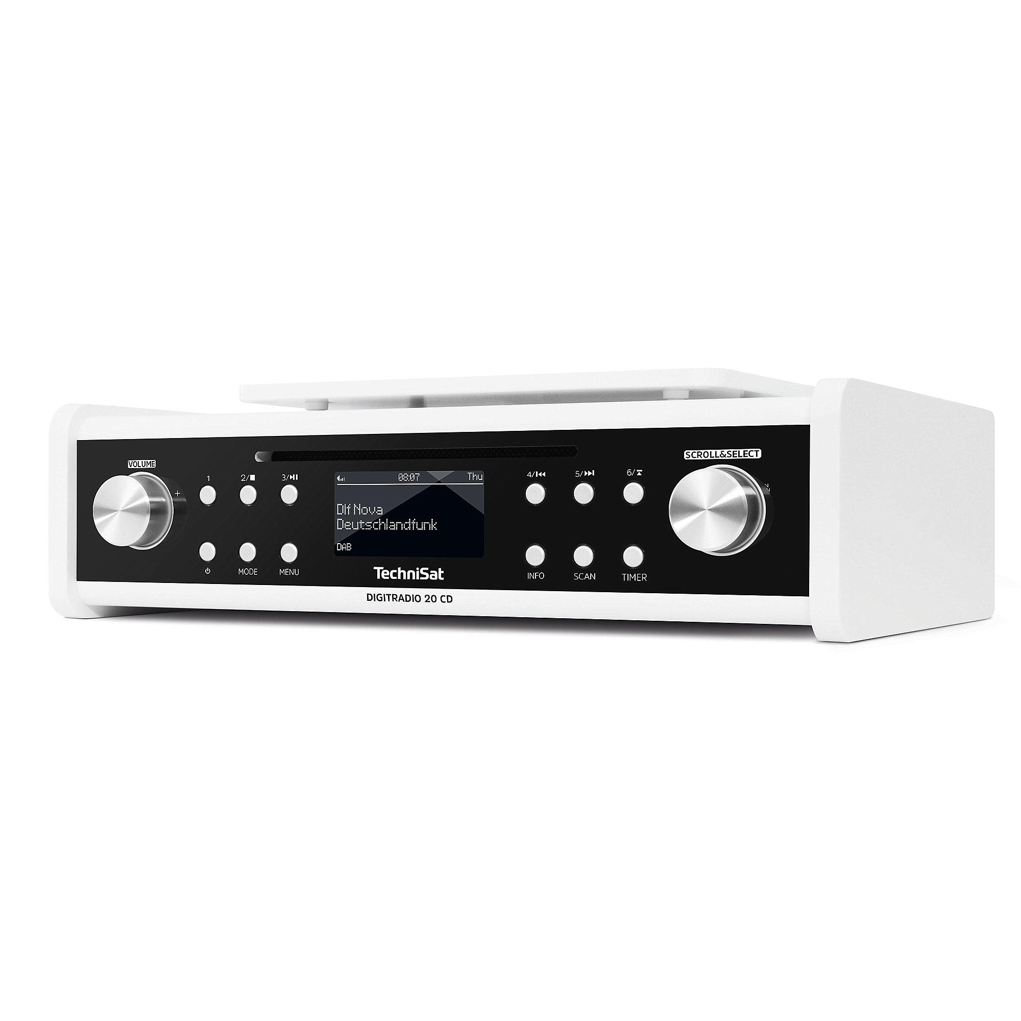 technisat digitradio 20 cd wei ukw dab unterbau radio mit cd cyberport. Black Bedroom Furniture Sets. Home Design Ideas