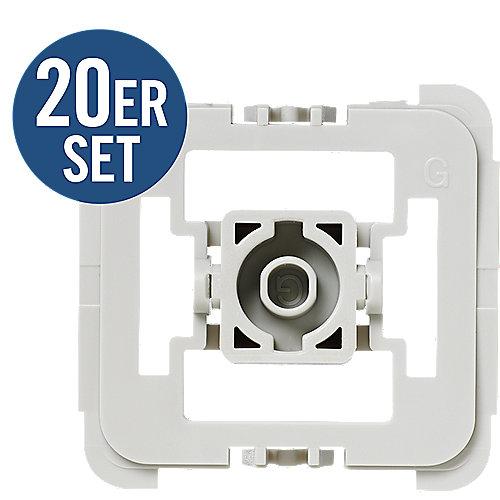 103091A1 Adapter-Set Gira 55 (G) 20 Stk. Schalterserien Adapter