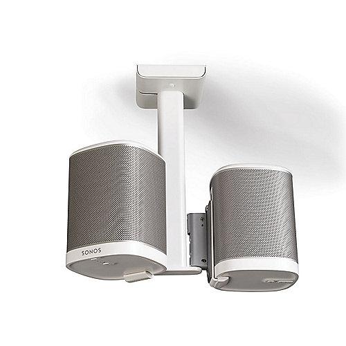 Flexson SONOS PLAY:1 Doppel-Deckenhalter Kabelführung neigbar schwenkbar weiß | 0702534974849