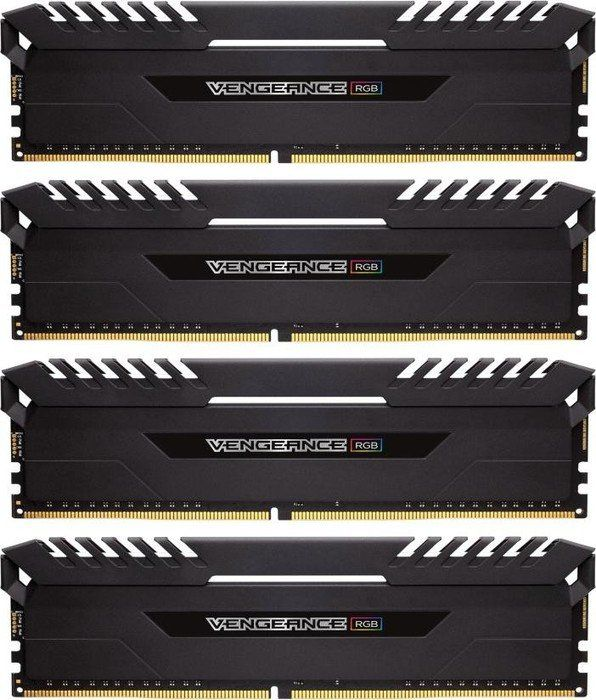 64GB (4x16GB) Corsair Vengeance RGB DDR4-3000 RAM CL15 (15-17-17-35)