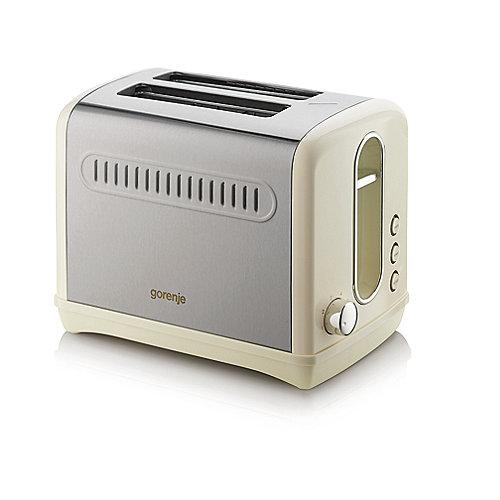 Gorenje T 1100 CLI Classico Toaster Creme/Edelstahl   3838782079832