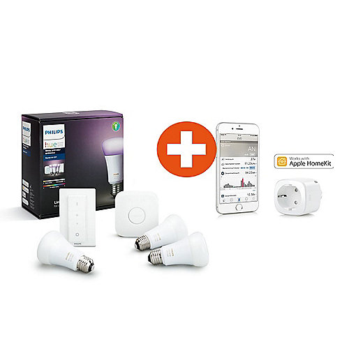 Philips Hue White and Color Ambiance E27 Starter Set + Elgato Eve Energy jetztbilligerkaufen