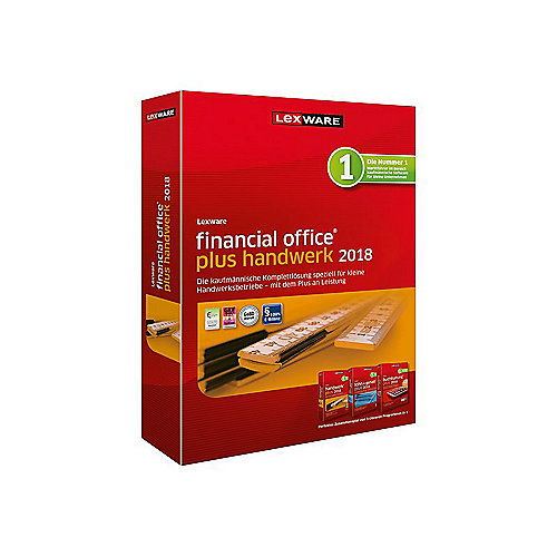 Lexware financial office plus handwerk 2018 Jahresversion (365-Tage), Box