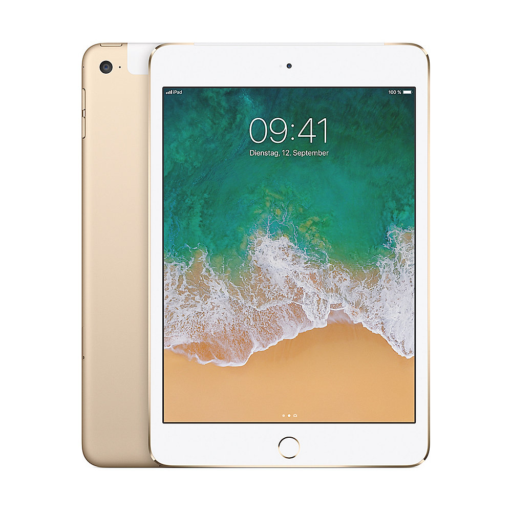 Apple iPad mini 4 Wi-Fi + Cellular 128 GB Gold (MK8F2FD/A)