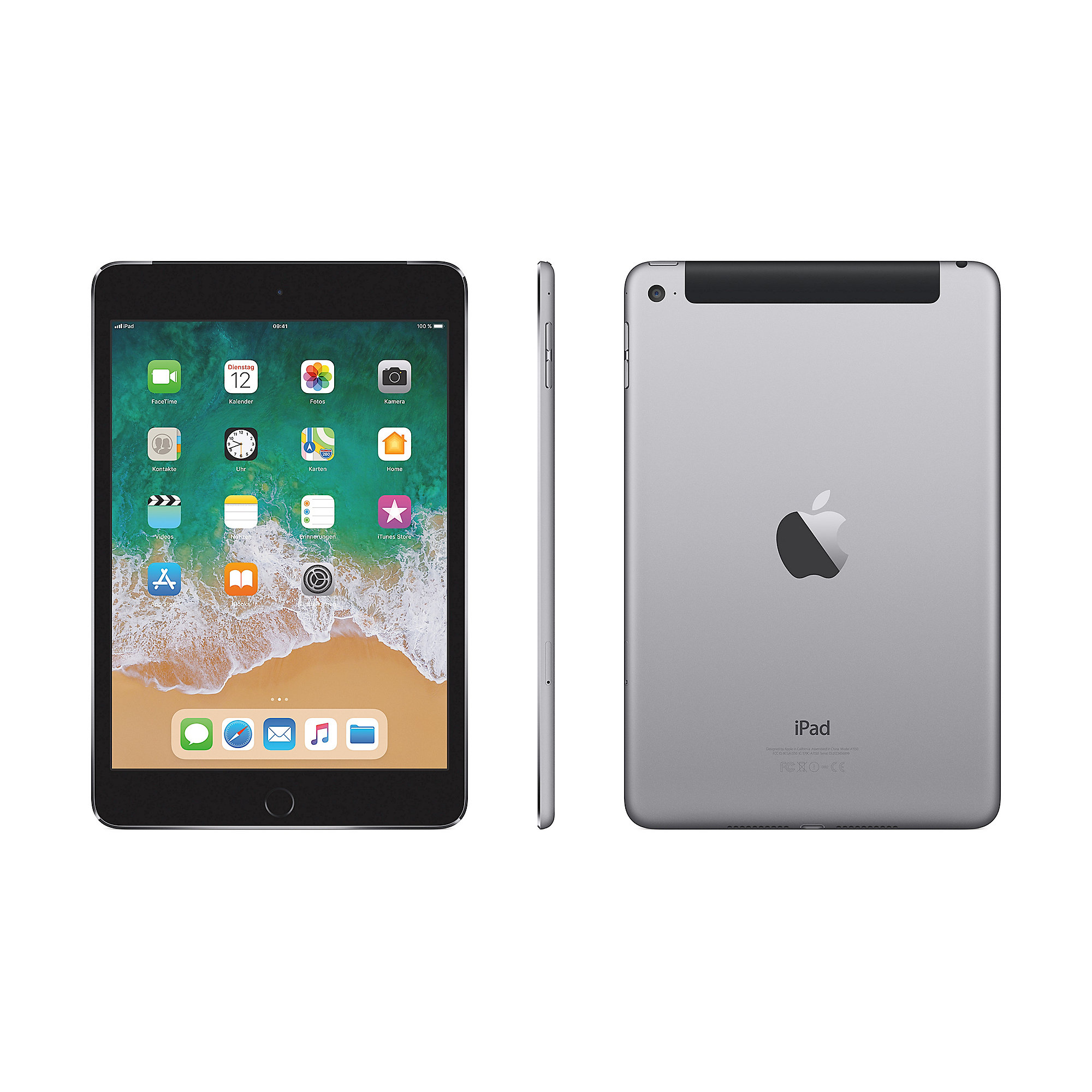 Apple iPad mini 4 Wi-Fi + Cellular 128 GB Space Grau (MK8D2FD/A)