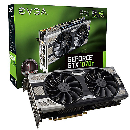 EVGA GeForce GTX 1070Ti FTW Ultra Silent Gaming 8GB GDDR5 DVI/HDMI/3xDP