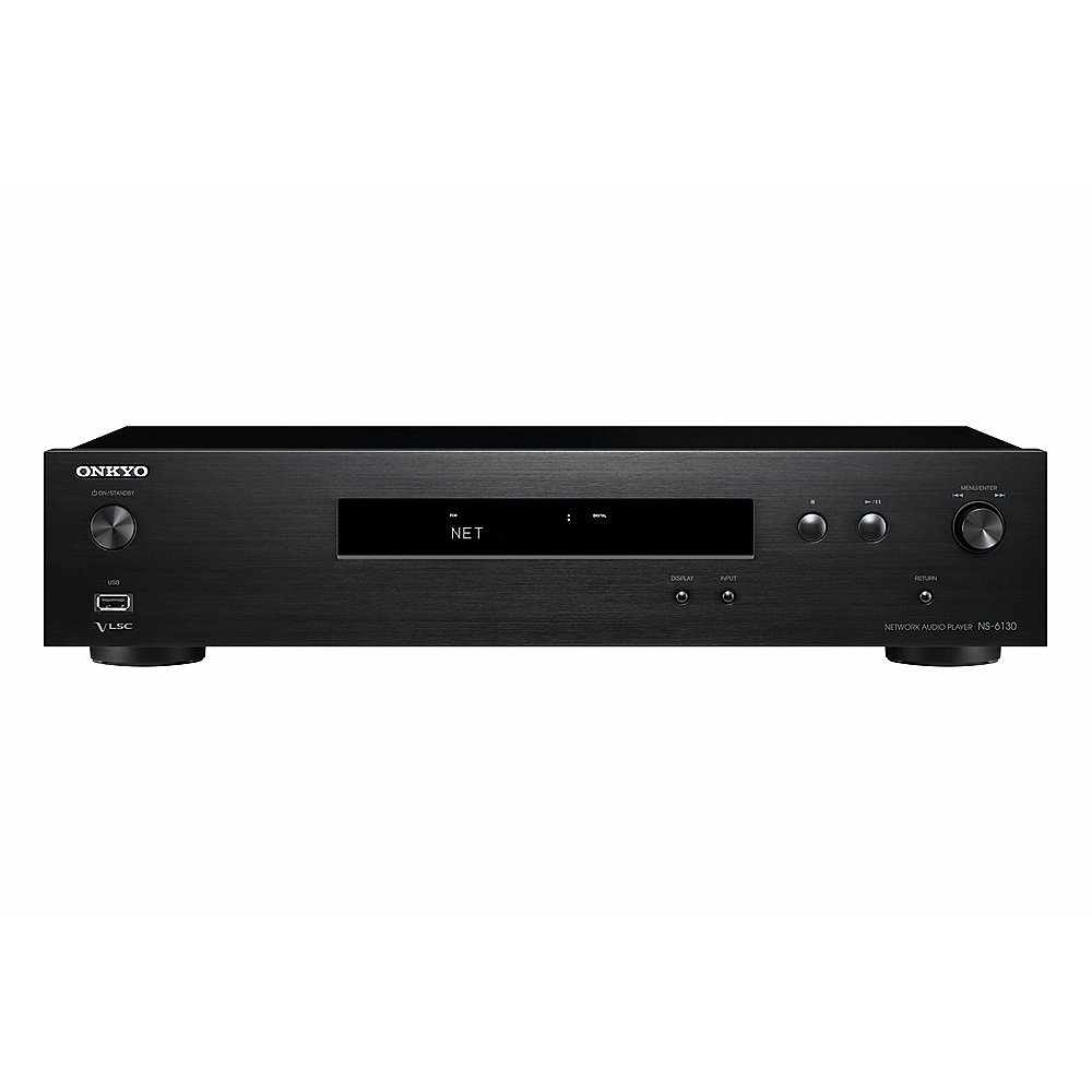 Onkyo NS-6130 Hi-Res Netzwerk-Audio-Player Chromcast Airplay schwarz