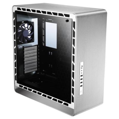 Cooltek  Jonsbo UMX5 Midi Tower ATX Gaming Gehäuse, Silber mit Seitenfenster | 4250140370952
