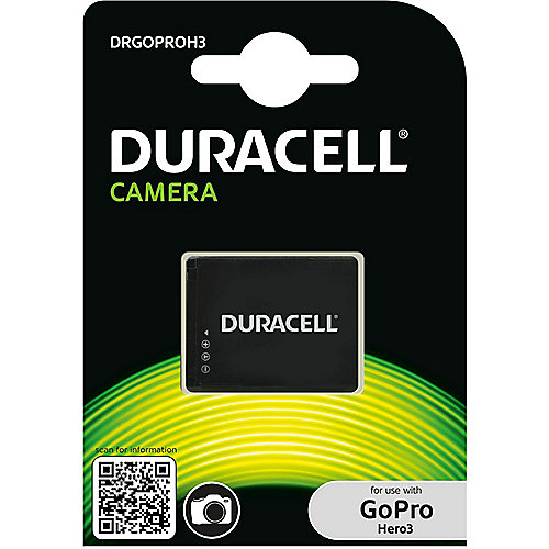 Duracell Li-Ion-Akku für GoPro Hero3 AHDBT-301