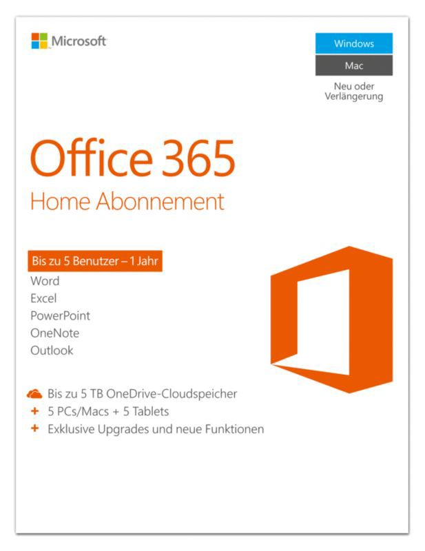 Microsoft Office 365 Home + Norton Security Deluxe 2+1 Geräte 1Jahr
