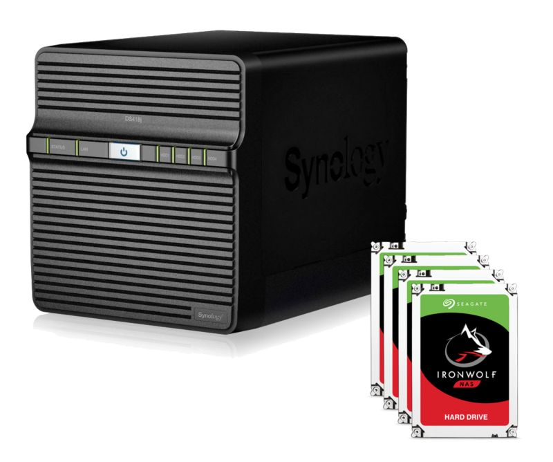 Synology DS418j NAS System 4-Bay 16TB inkl. 4x 4TB Seagate ST4000VN008