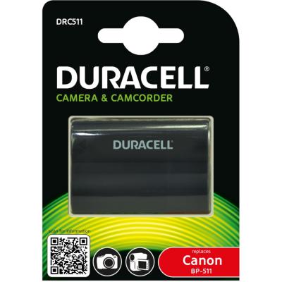 Duracell  Li-Ion-Akku für Canon BP-508/BP-511/BP-512/BP-514/BP-522/BP-535 | 5055190103128