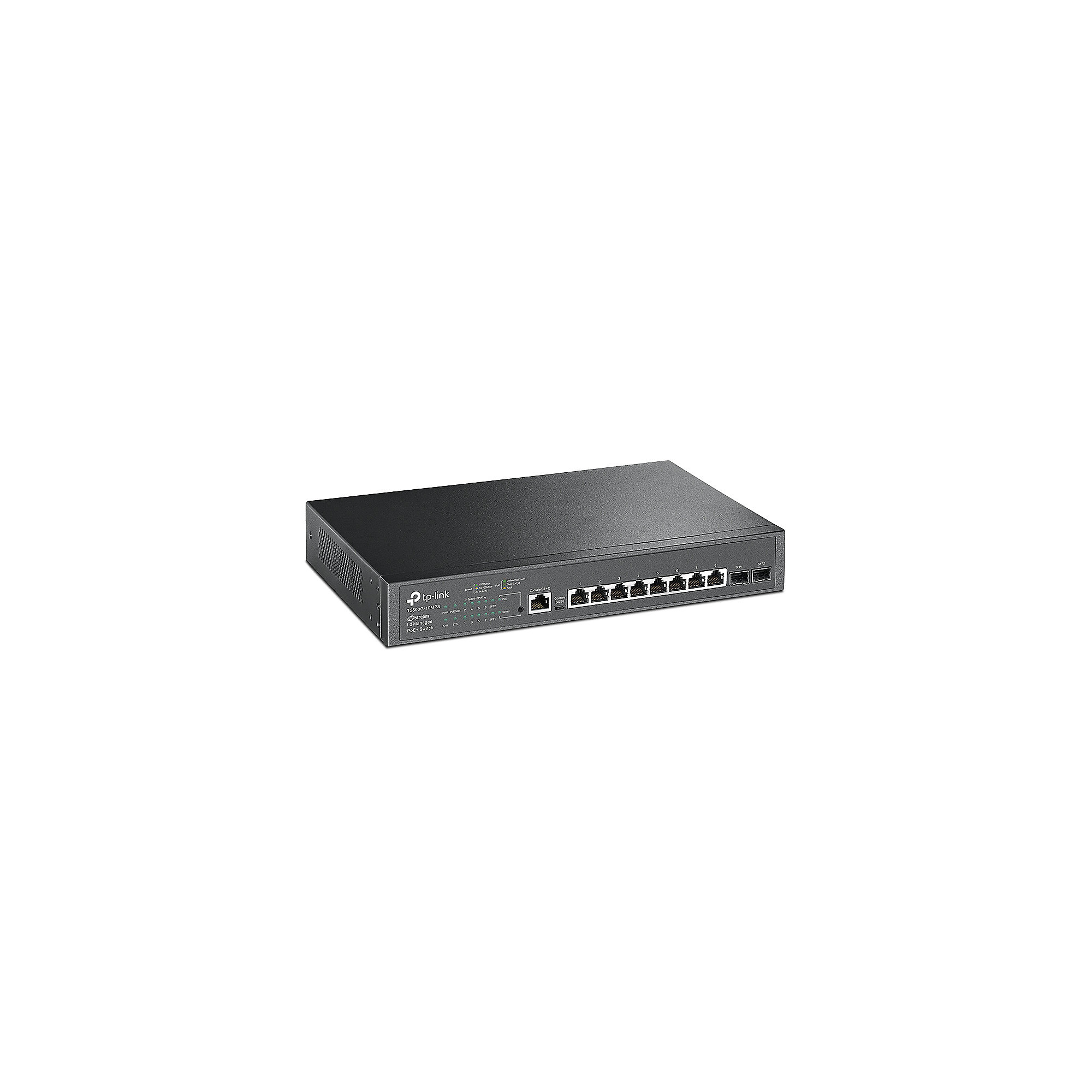 TP-LINK T2500G-10MPS 8x Port Desktop Gigabit L2 Managed Switch PoE+ 2xSFP